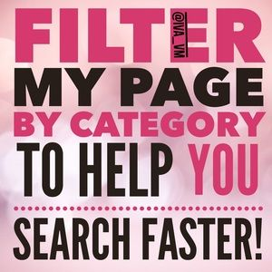 FILTER MY PAGE BY CATEGORY, BRAND, COLOUR OR SIZE!